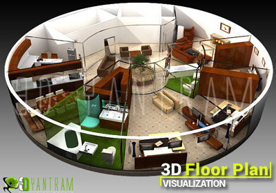 3D Floor Plan Design Visualization