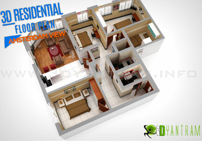 3D Virtual Floor Plan Visualization