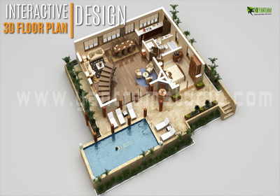 Interactive 3D Floor Plan Design for Home