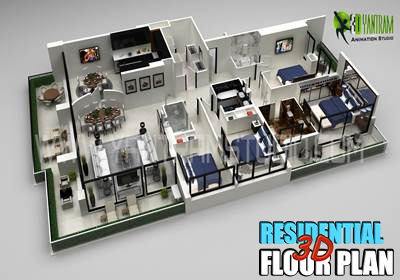 Residential 3D Floor Plan