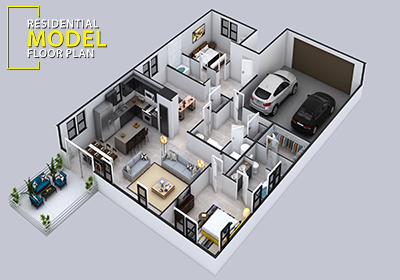 Residential Modern floor plan