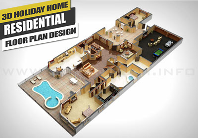 3D Virtual Floor Plan Design for Home