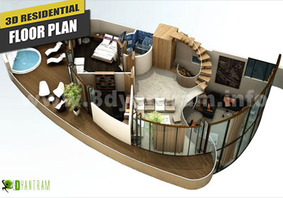 3D Virtual Floor Plan for Home