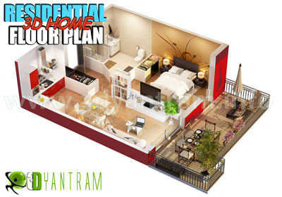 3D Home Floor Plan Visualization
