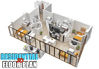3D Residential Virtual Floor Plan Design