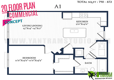 Residential 2D Floor Plan Design