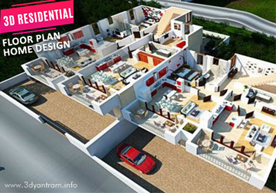 3D Virtual Residential Site Floor Plan