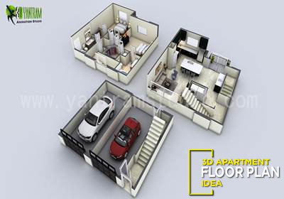 3D Floor Plan Visualization for Small House